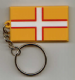 Dorset County Flag Soft PVC Keyring.